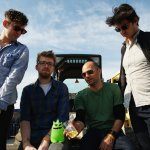 The Antlers backstage at Sasquatch! Photo by Dave Lichterman