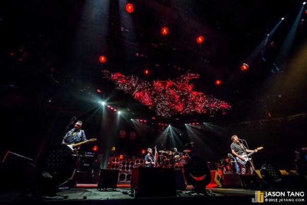 Pearl Jam performing at KeyArena in 2013.
