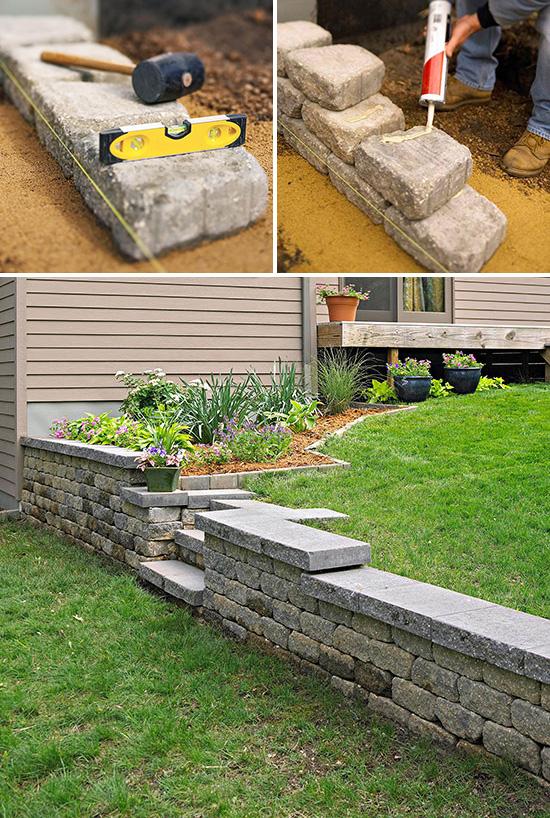 7 idee per realizzare pareti di sostegno nel giardino for Come costruire una cabina di pietra