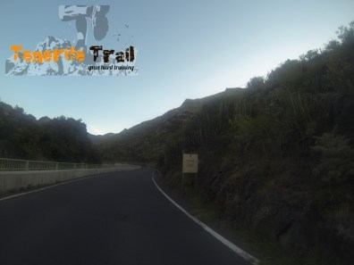 Carretera inicio del Parque Rural de Anaga