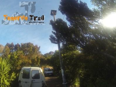 Detalle llegada a la zona de Casas de la Cumbre