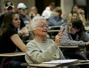 Old Women College Student