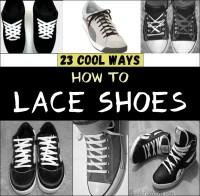 23 Cool Ways to Lace Shoes