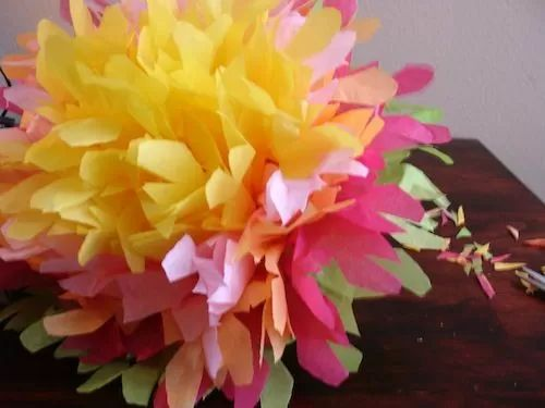 mexican paper flower instructions