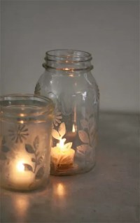 29+ DIY Mason Jar Candles and Holders   Guide Patterns