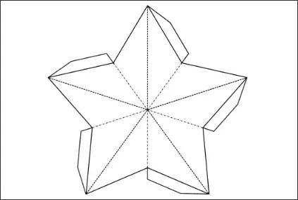 21 Creative Paper Star Lanterns Pattern Guide Patterns - star template