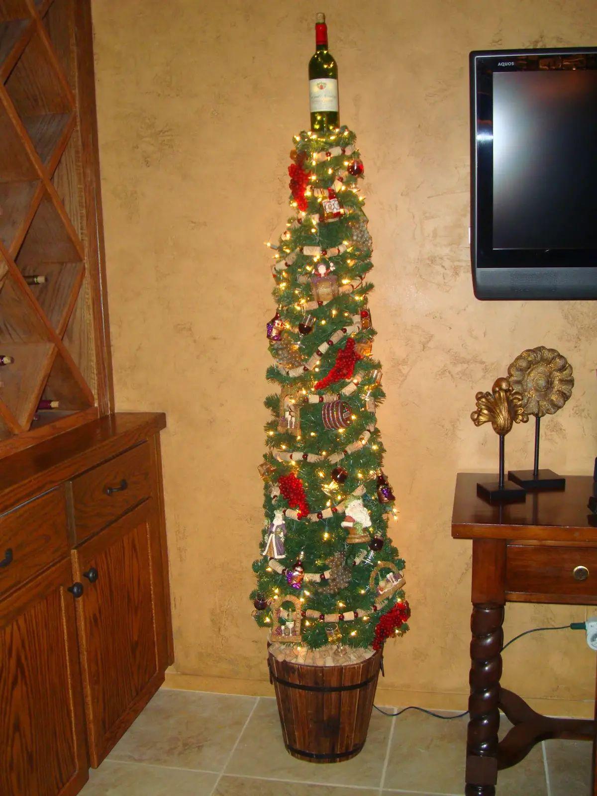 10 unique wine bottle christmas tree designs