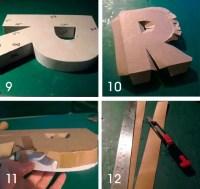 21 DIY Cardboard Letters   Guide Patterns