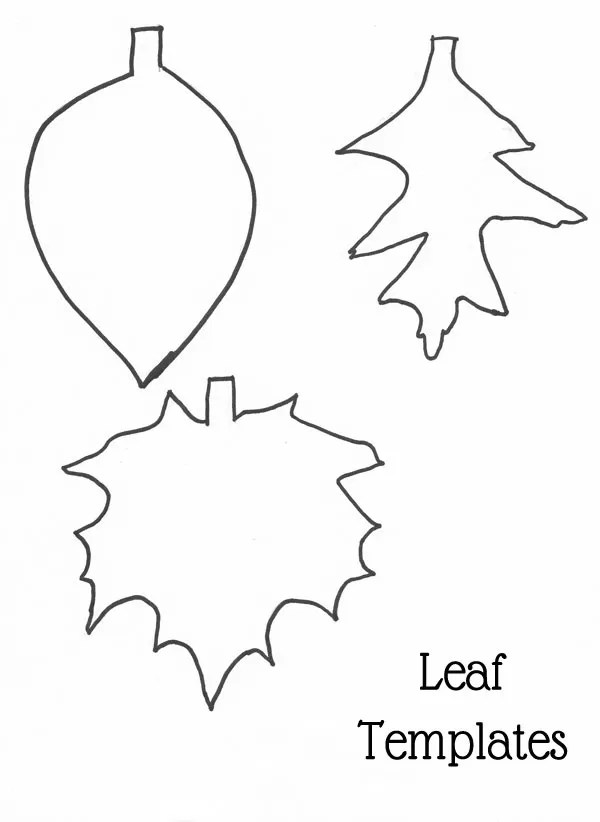 26 DIY Leaf Garland Ideas Guide Patterns - leaf template