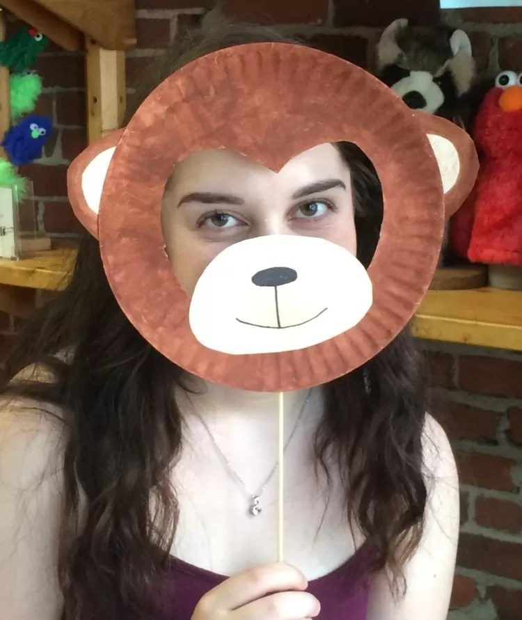 Year Of The Monkey & Paper Plate Monkey Mask - Castrophotos