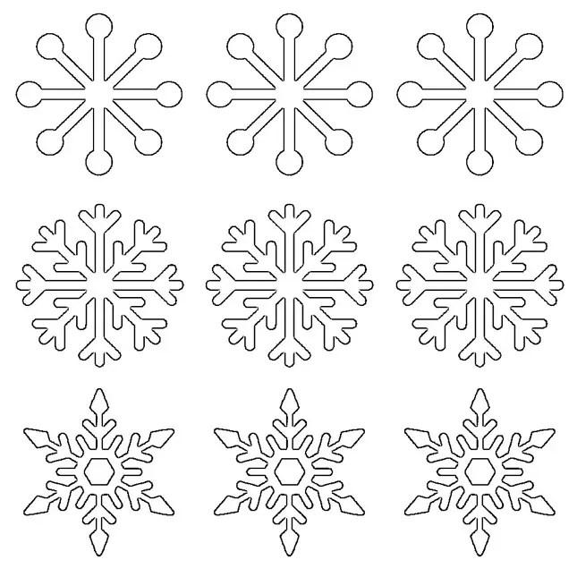 Popsicle Stick Snowflakes 17 DIYs Guide Patterns - snowflake template