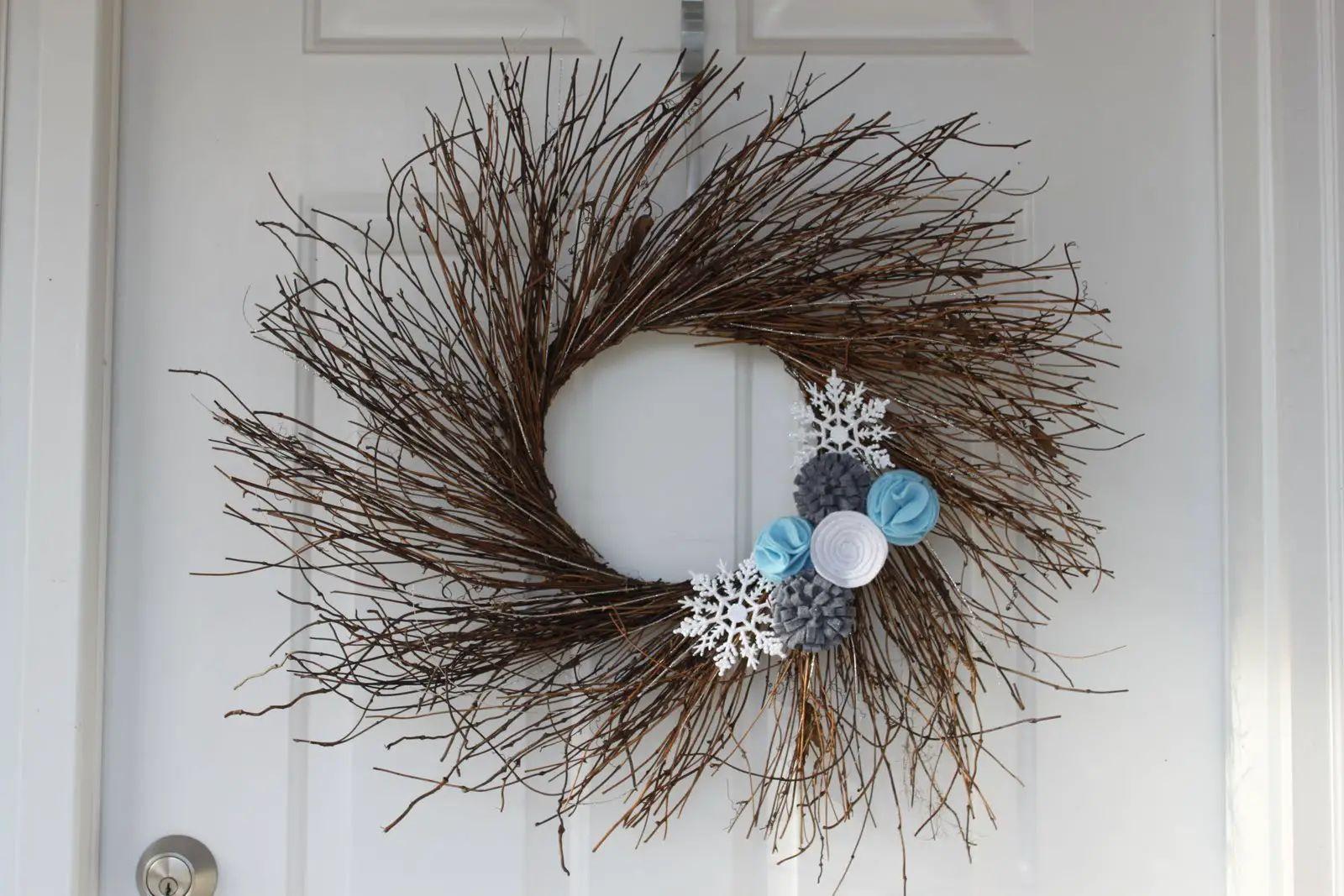wooden wreath
