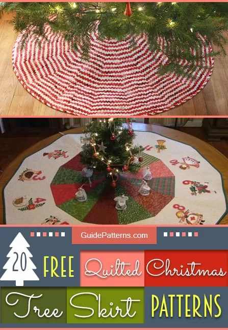 20 Free Quilted Christmas Tree Skirt Patterns Guide Patterns