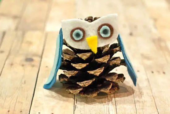 6 creative ideas for diy pine cone owls