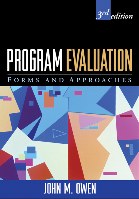 Program Evaluation Third Edition Forms and Approaches - Program Evaluation