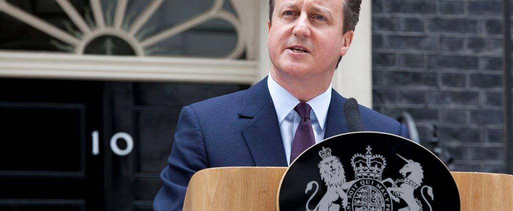 El presidente valiente David Cameron