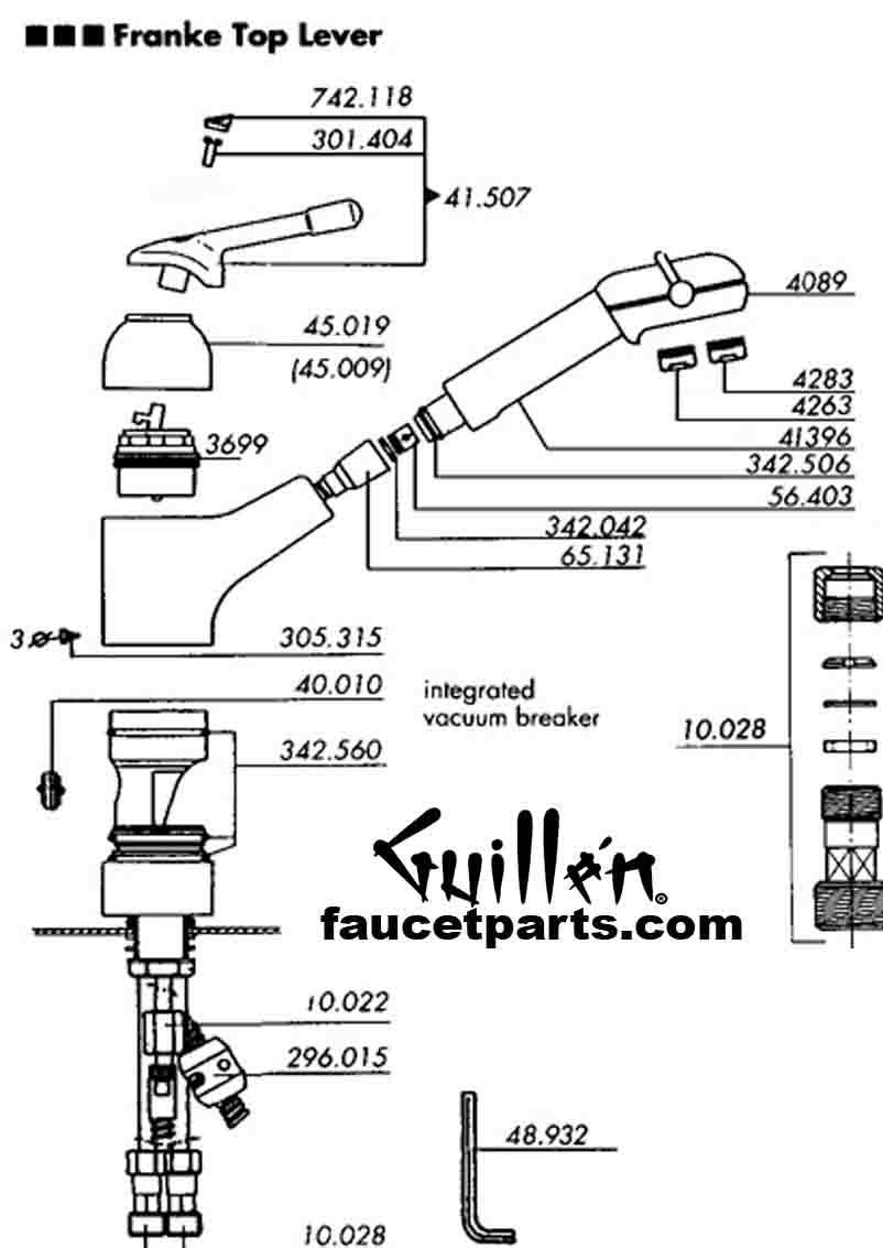 Franke kitchen faucet parts FF parts