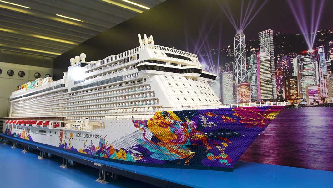 Video The World39s Largest Lego Ship Has Been Made Using