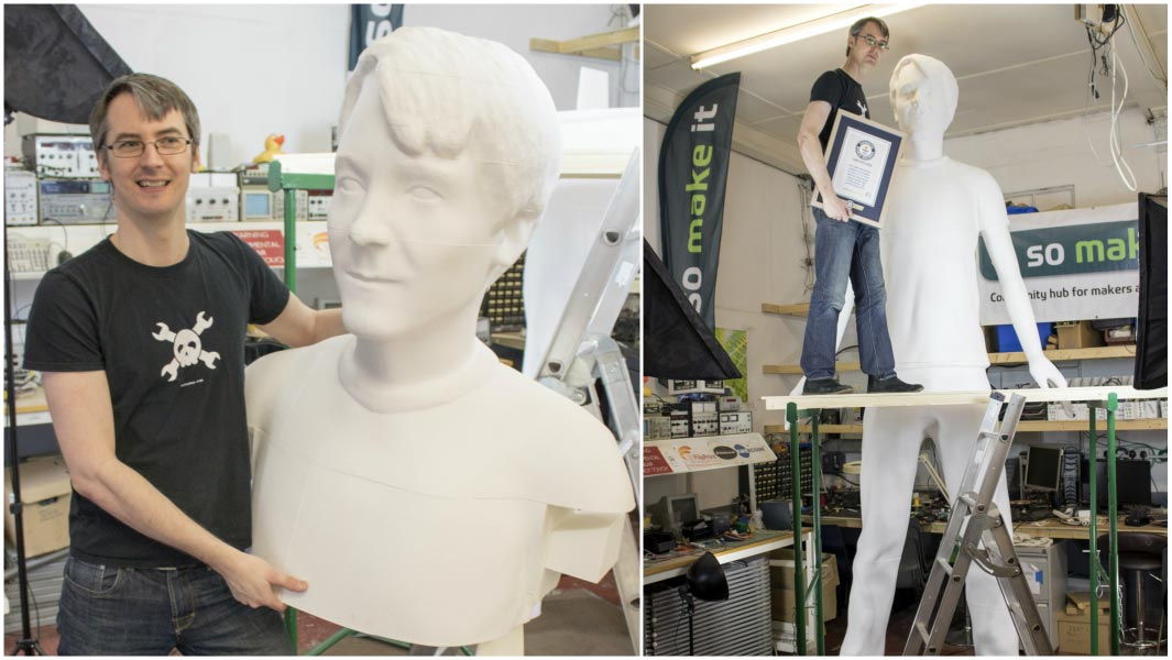 Video YouTuber makes 3D printed sculpture of himself to get in the