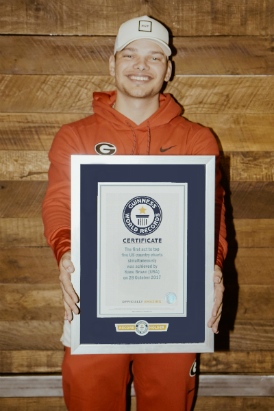 Country music star Kane Brown earns record for his chart-topping