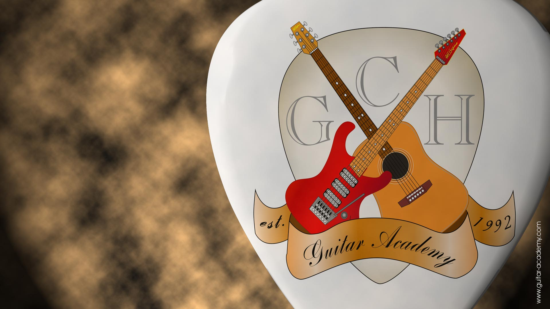 3d Dual Screen Wallpaper Guitar Wallpapers From Gch Guitar Academy