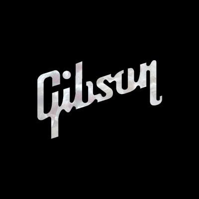 The Black Pearl Wallpaper Gibson Logo Small Self Adhesive Decal Guitar Headstock