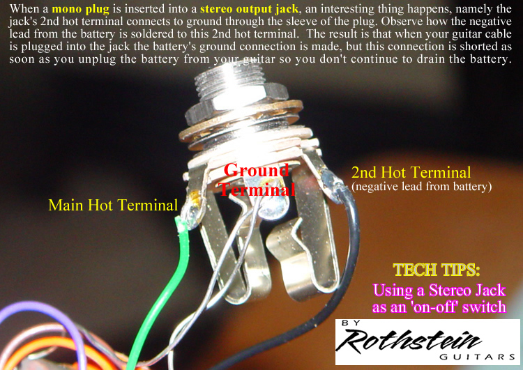 stereo guitar jack wiring