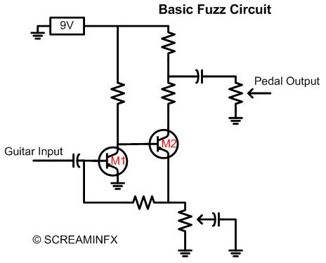 fuzz face pedal schematic