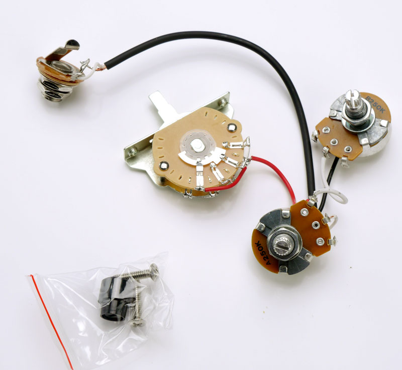 Telecaster® Humbucker Complete Wiring Harness Pre-Assembled