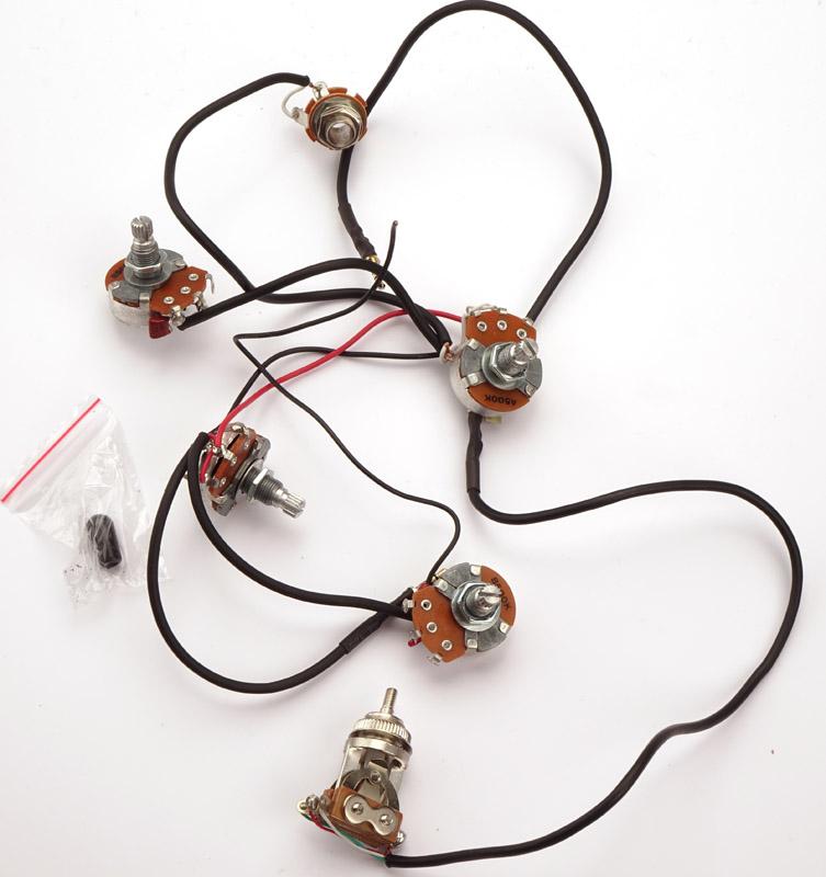 Kwikplug LP 2 HUMBUCKER Wiring Harness- PRE-SOLDERED Drop-In