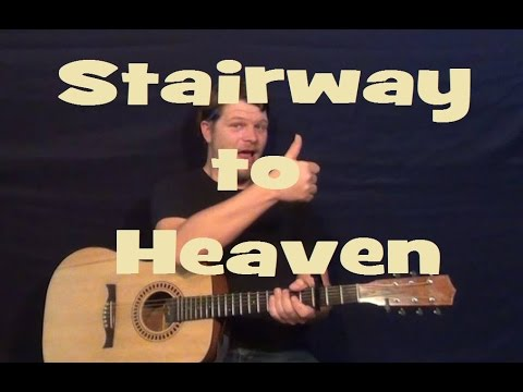Stairway to Heaven (Led Zeppelin) Guitar Lesson Easy Strum Chords ...
