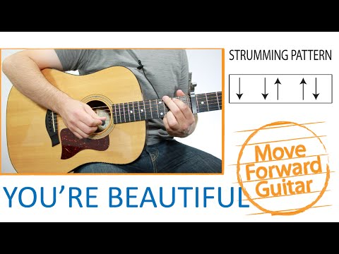 Youre Beautiful James Blunt Chords and Lyrics for Guitar