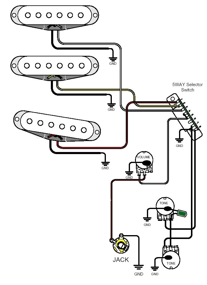 3 wire single coil pickup wiring diagram
