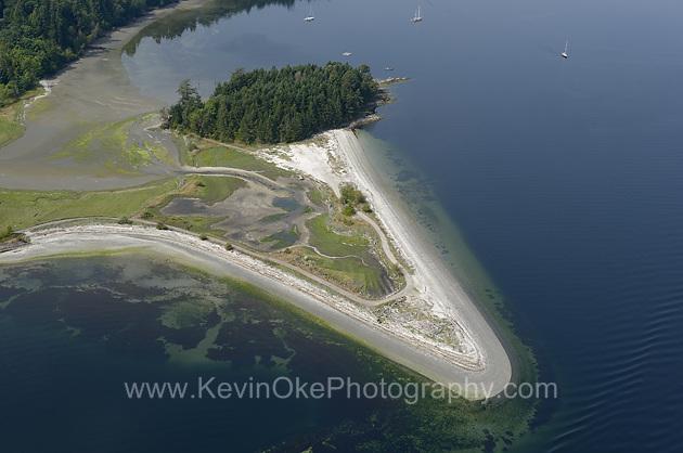 Penelakut Spit, Penelakut Island, BC. Aerial photographs of the Southern Gulf Islands. British Columbia, Canada.Penelakut Spit, Penelakut Island Island Aerial Photographs, British Columbia, Canada.