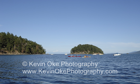 Campbell Point and Georgeson Island with the Strait of Georgia in the distance