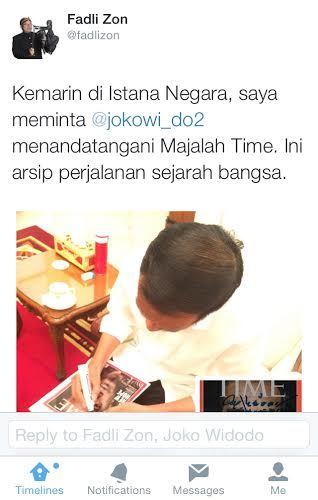 Jokowi Fadli Zon
