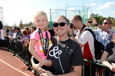 At the Finish with Daddy