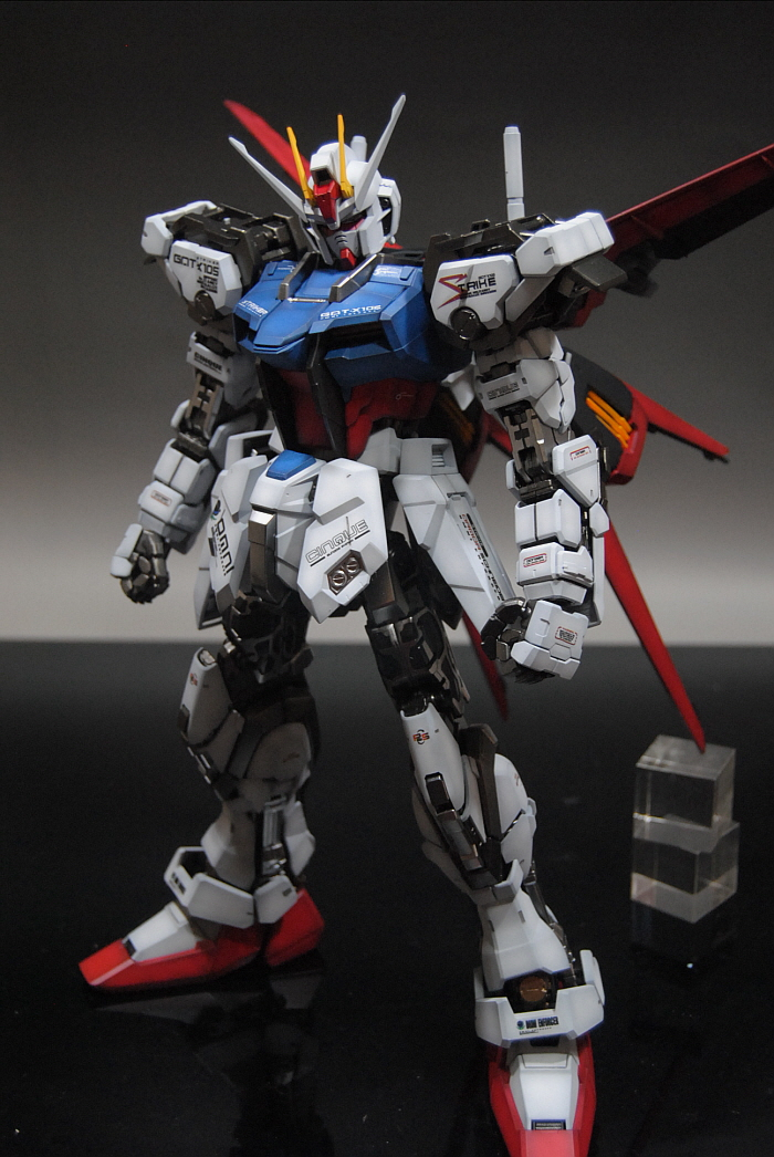 All Anime Wallpaper Hd Pg Gat X105 Aile Strike Gundam Assembled Painted