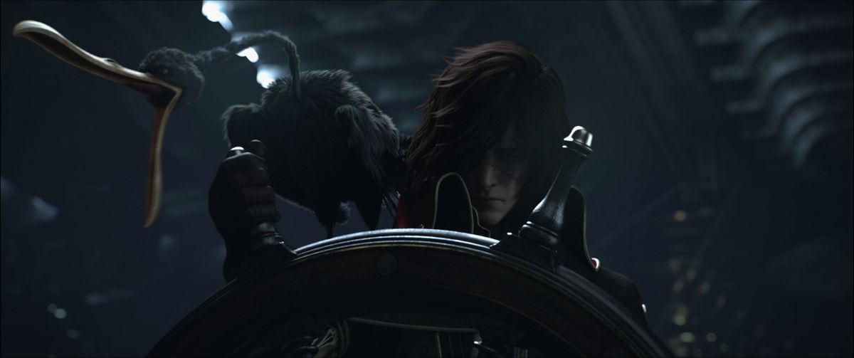 Wallpaper Skull 3d Space Pirate Captain Harlock New Trailer No 43