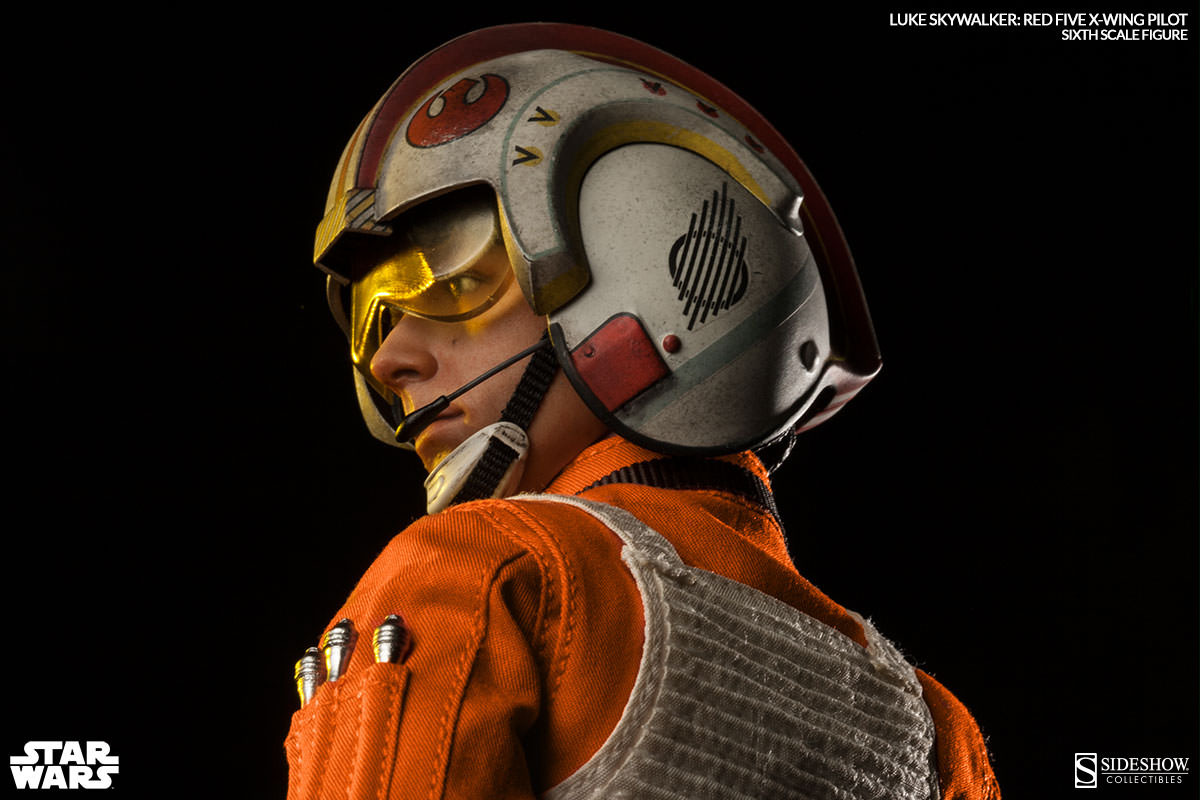 X Wing Fighter Iphone Wallpaper Sideshow X Star Wars Red Five X Wing Pilot 1 6 Luke
