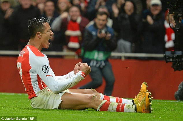 Sanchez scored a beauty to confirm the win over Dortmund