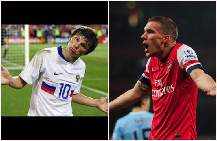 Podolski looks to be heading the same way as Arshavin...the exit
