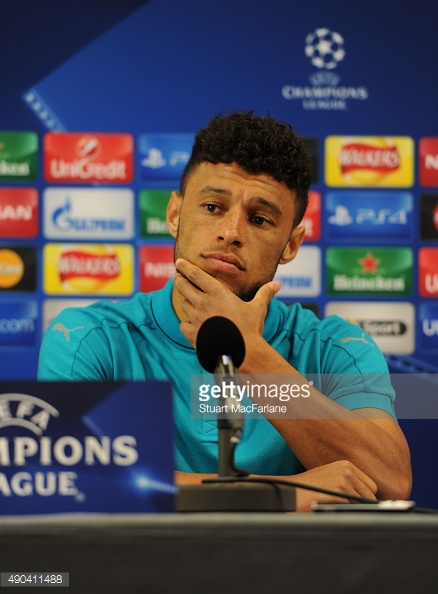 Ox at Press Conference yesterday (Couttesy of Getty/Stuart MacFarlane)