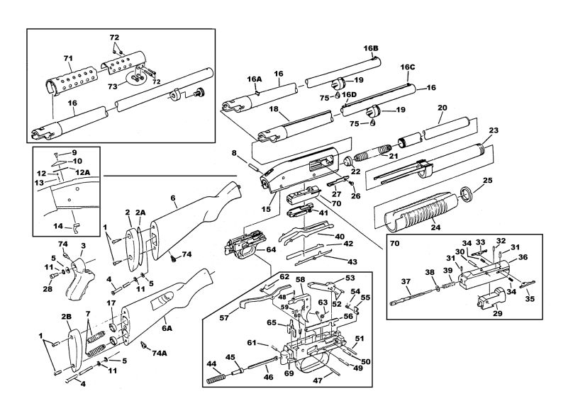 mossberg 500 series schematic guns lot