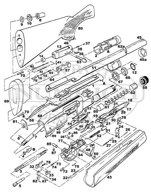 remington 1187 parts schematic