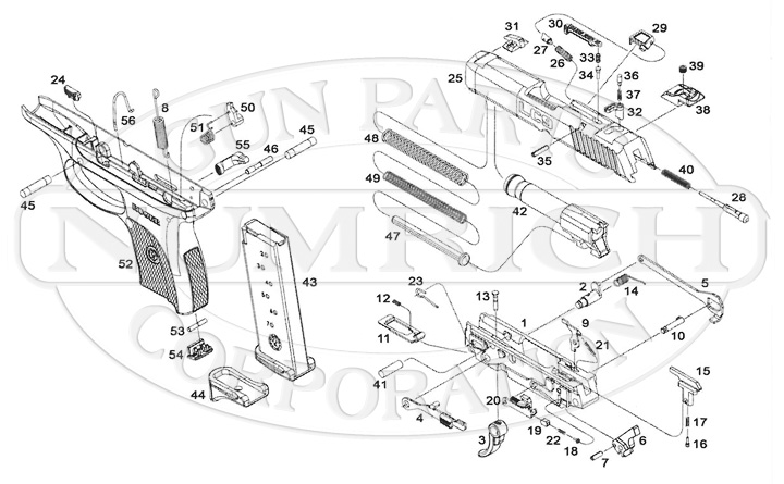 ruger lcp extractor exploded view diagram