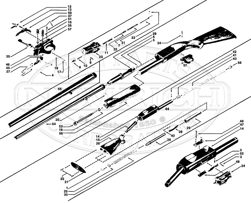 schematic winchester model 12
