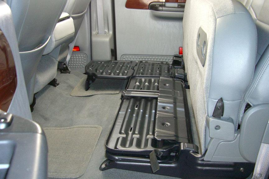 Underseat Storage Gun Case Light Gray For 03 07 Ford