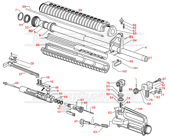 ar 15 bolt schematic