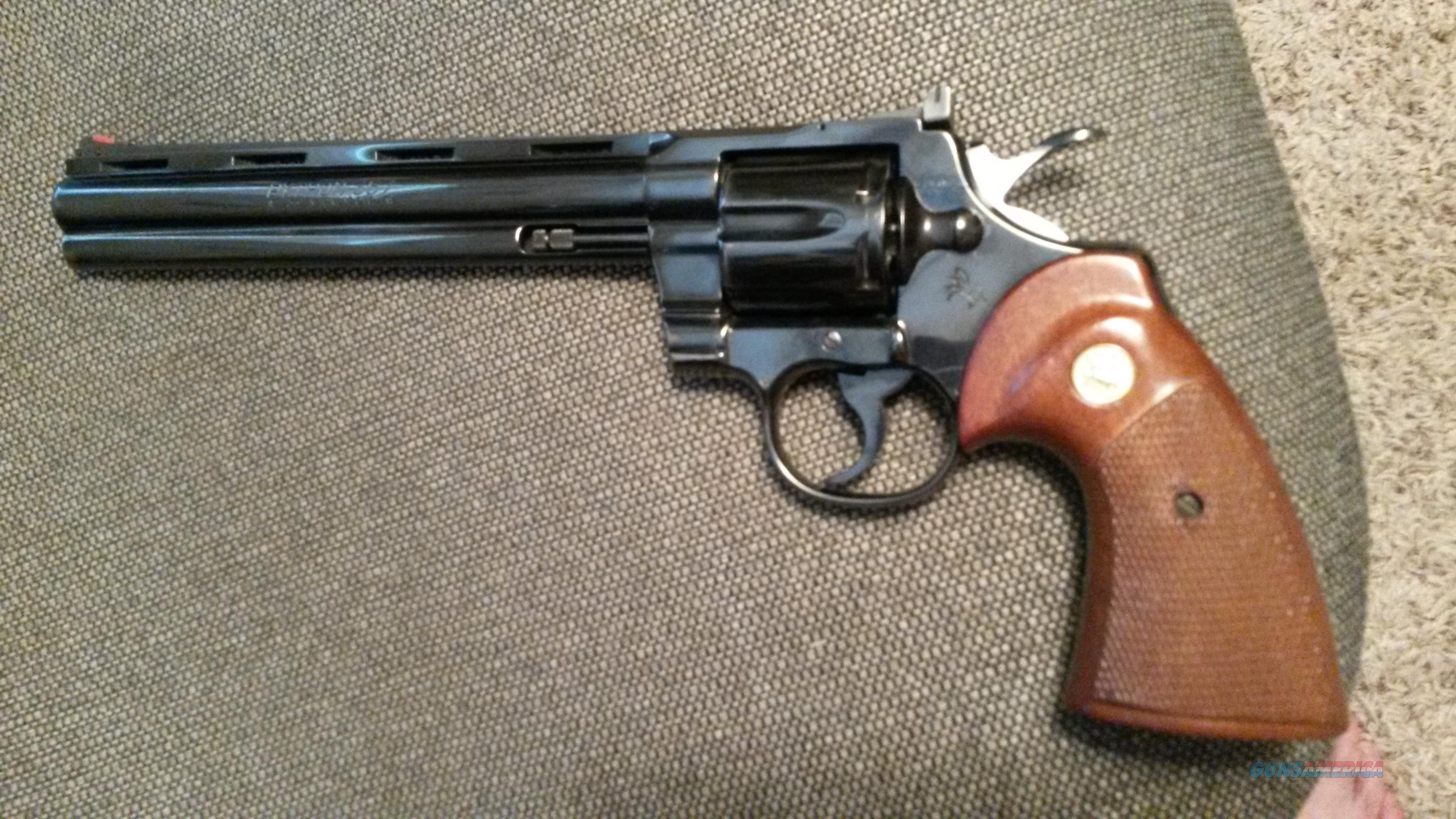 Colt Python 357 8 Inch Barrel For Sale